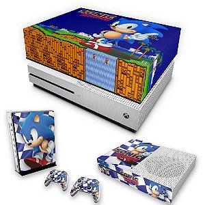 KIT Xbox One S Slim Skin e Capa Anti Poeira - Sonic The Hedgehog