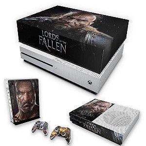 KIT Xbox One S Slim Skin e Capa Anti Poeira - Lords of the Fallen