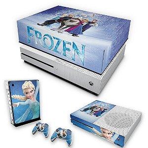 KIT Xbox One S Slim Skin e Capa Anti Poeira - Frozen