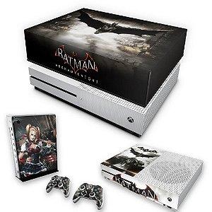 KIT Xbox One S Slim Skin e Capa Anti Poeira - Batman Arkham Knight