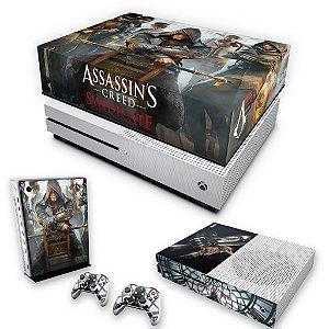 KIT Xbox One S Slim Skin e Capa Anti Poeira - Assassin's Creed Syndicate