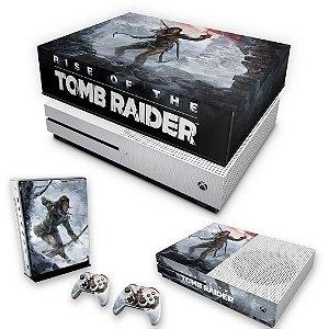 KIT Xbox One S Slim Skin e Capa Anti Poeira - Rise of the Tomb Raider