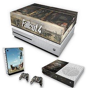 KIT Xbox One S Slim Skin e Capa Anti Poeira - Fallout 4