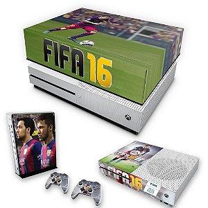 KIT Xbox One S Slim Skin e Capa Anti Poeira - FIFA 16