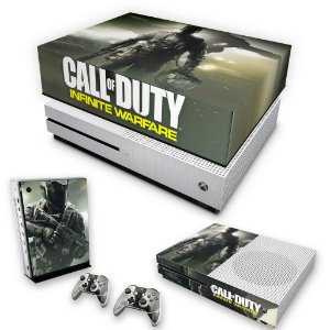 KIT Xbox One S Slim Skin e Capa Anti Poeira - Call of Duty: Infinite Warfare