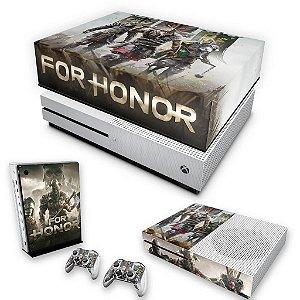 KIT Xbox One S Slim Skin e Capa Anti Poeira - For Honor