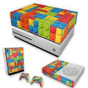 KIT Xbox One S Slim Skin e Capa Anti Poeira - Lego