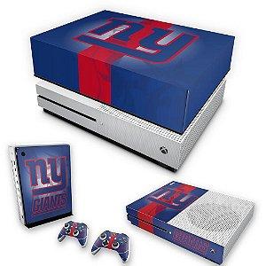 KIT Xbox One S Slim Skin e Capa Anti Poeira - New York Giants - NFL