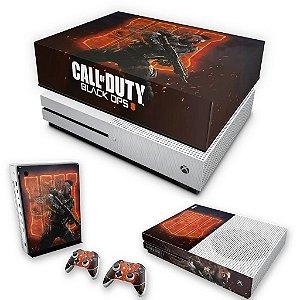 KIT Xbox One S Slim Skin e Capa Anti Poeira - Call of Duty Black ops 4