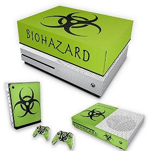KIT Xbox One S Slim Skin e Capa Anti Poeira - Biohazard Radioativo