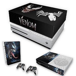KIT Xbox One S Slim Skin e Capa Anti Poeira - Venom