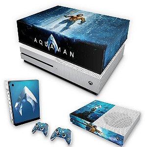 KIT Xbox One S Slim Skin e Capa Anti Poeira - Aquaman