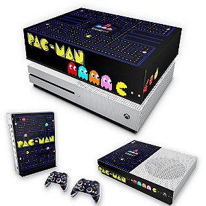 KIT Xbox One S Slim Skin e Capa Anti Poeira - Pac Man