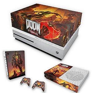 KIT Xbox One S Slim Skin e Capa Anti Poeira - Doom Eternal