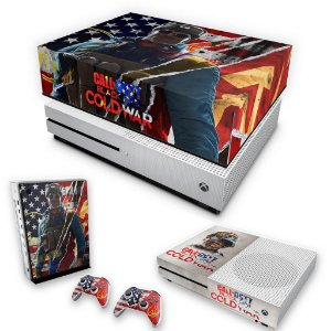 KIT Xbox One S Slim Skin e Capa Anti Poeira - Call Of Duty Cold War
