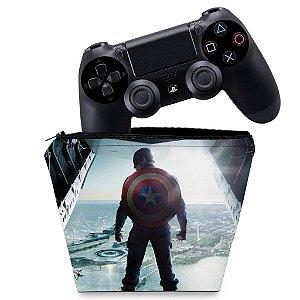 Capa PS4 Controle Case - Capitao America