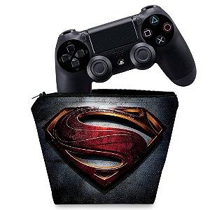 Capa PS4 Controle Case - Superman - Super Homem