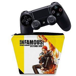 Capa PS4 Controle Case - Infamous