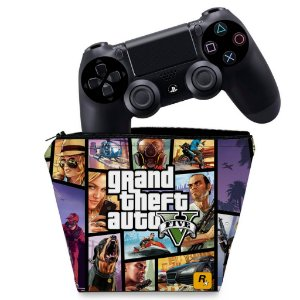 Capa PS4 Controle Case - Gta V