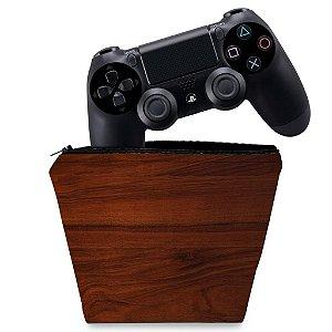 Capa PS4 Controle Case - Textura Madeira