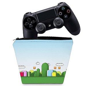 Capa PS4 Controle Case - Super Mario