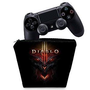 Capa PS4 Controle Case - Diablo
