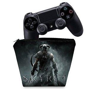 Capa PS4 Controle Case - Skyrim