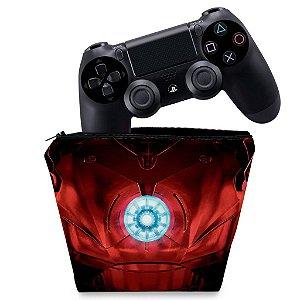 Capa PS4 Controle Case - Iron Man - Homem De Ferro