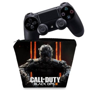 Capa PS4 Controle Case - Call Of Duty Black Ops 3