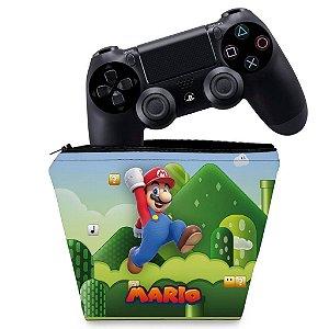 Capa PS4 Controle Case - Super Mario Bros