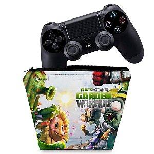 Capa PS4 Controle Case - Plants Vs Zombies Garden Warfare