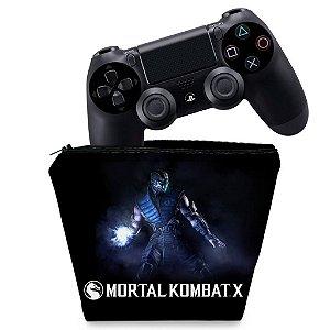 Capa PS4 Controle Case - Mortal Kombat X - Sub Zero