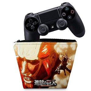 Capa PS4 Controle Case - Attack On Titan - Shingeki No Kyojin #B