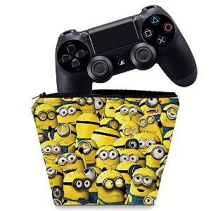 Capa PS4 Controle Case - Minions
