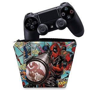 Capa PS4 Controle Case - Deadpool