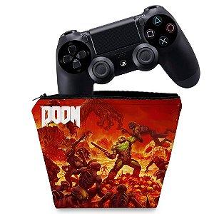 Capa PS4 Controle Case - Doom