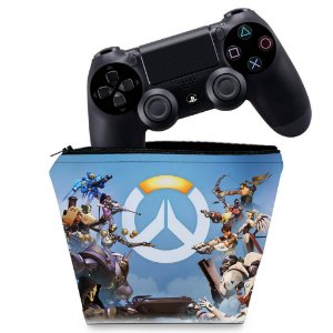 Capa PS4 Controle Case - Overwatch