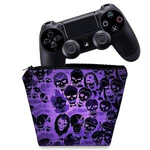 Capa PS4 Controle Case - Esquadrão Suicida #D