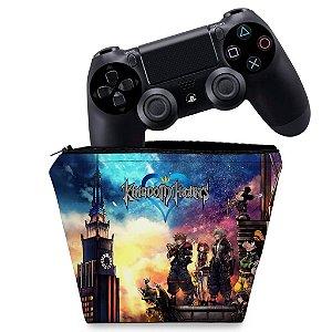 Capa PS4 Controle Case - Kingdom Hearts
