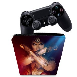 Capa PS4 Controle Case - Mulher Maravilha