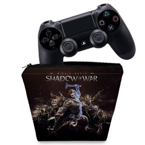Capa PS4 Controle Case - Shadow Of War