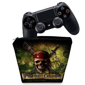 Capa PS4 Controle Case - Piratas Do Caribe