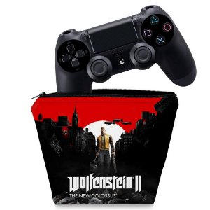 Capa PS4 Controle Case - Wolfenstein 2 New Order