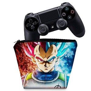 Capa PS4 Controle Case - Dragon Ball Super Vegeta Ssj God