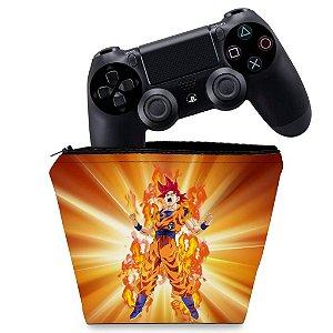 Capa PS4 Controle Case - Dragon Ball Super Goku