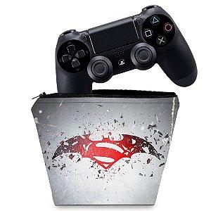 Capa PS4 Controle Case - Batman Vs Superman Logo