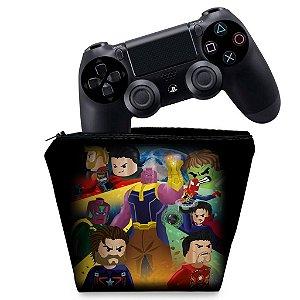 Capa PS4 Controle Case - Lego Avengers Vingadores