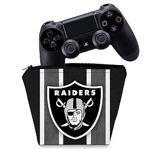 Capa PS4 Controle Case - Oakland Raiders Nfl