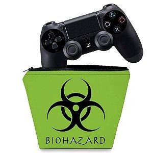 Capa PS4 Controle Case - Biohazard Radioativo