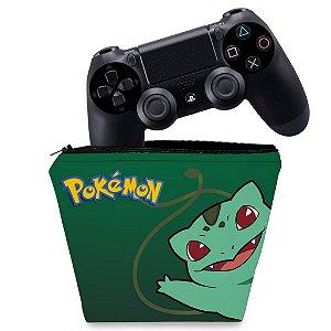 Capa PS4 Controle Case - Pokemon Bulbasaur